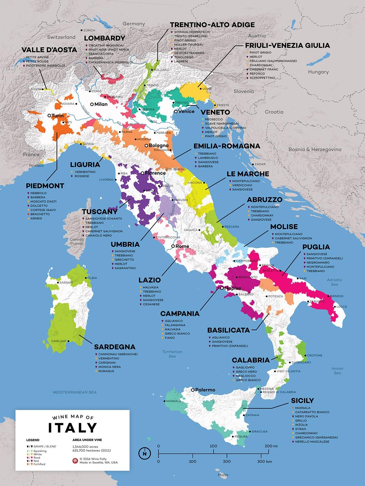 Carte italie vdm